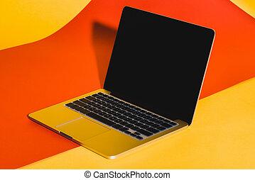 draagbare computer, scherm, leeg