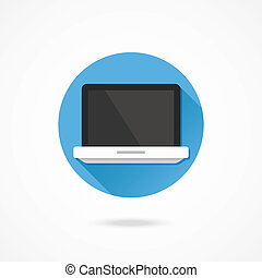 draagbare computer, vector, pictogram