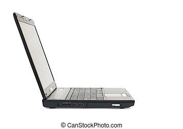 draagbare computer, vrijstaand, op wit