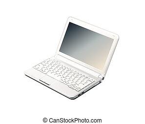 draagbare computer, witte , vrijstaand