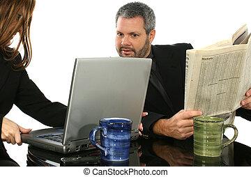 draagbare computer, zakenlui