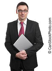 draagbare computer, zakenmens