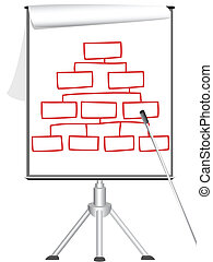 draai grafiek om, statief, presentatie