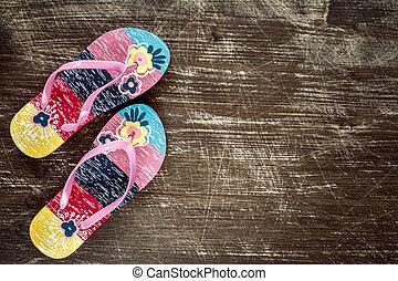 draai mislukking om, sandalen