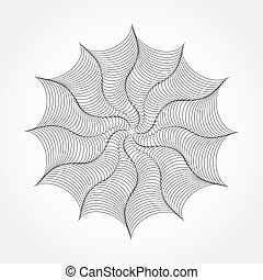 draaikolk, abstract, lijnen, achtergrond., vector, textured