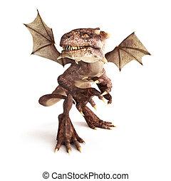 draak, het poseren