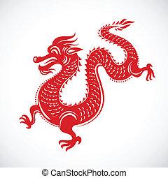 draak, nieuw, chinees, jaar