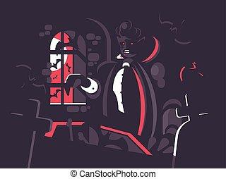 Dracula cartoon character