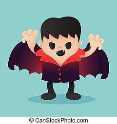 Dracula Cartoon in Halloween