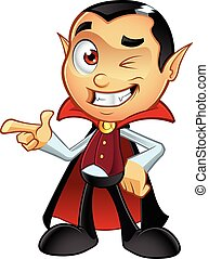 Dracula Character - A cartoon illustration of a Dracula...