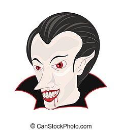 dracula count head halloween character