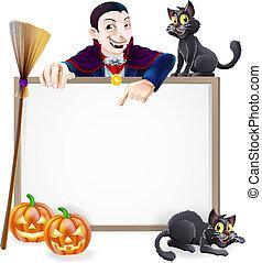 dracula, halloween, segno
