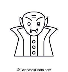 Dracula icon, linear isolated illustration, thin line vector, web design sign, outline concept symbol with editable stroke on white background.