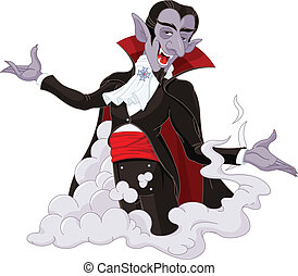 Dracula - Illustration of very cute vampire