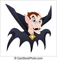 Creative Conceptual Design Art of Dracula Profile Vector