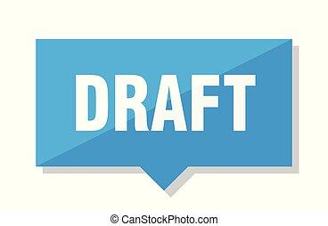 draft price tag - draft blue square price tag