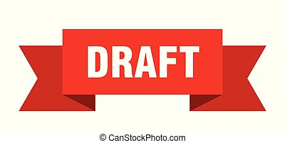 draft ribbon. draft isolated sign. draft banner