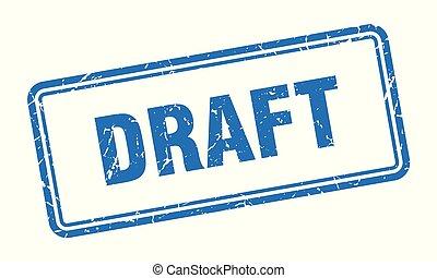 draft stamp. draft square grunge sign. draft