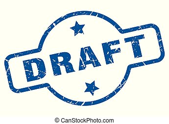 draft vintage stamp. draft sign