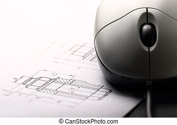 Drafting and computer mouse