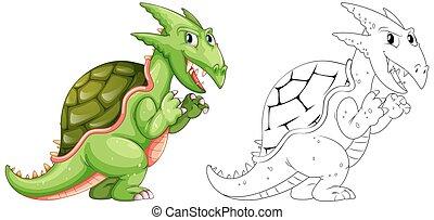 Drafting animal for dragon with shell
