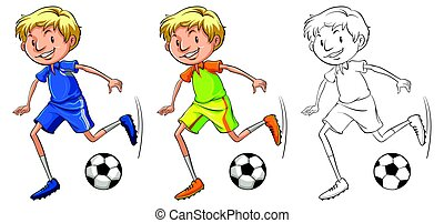 Drafting character for soccer player