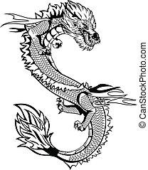 dragão, asiático