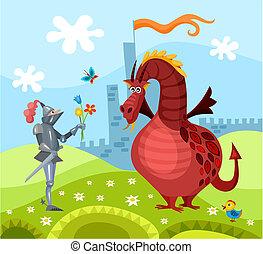 dragão, e, cavaleiro