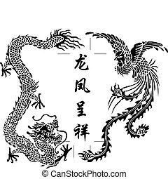 dragón, phoenix