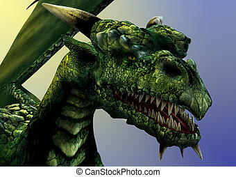 dragón, primer plano