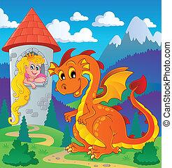 dragón, topic, imagen, 2