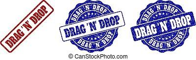 DRAG 'N' DROP Scratched Stamp Seals