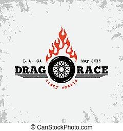 Drag race label