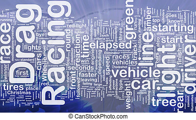 Drag racing concept diagram - Concept diagram wordcloud...