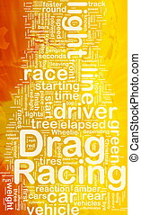 Drag racing concept diagram - Concept diagram wordcloud...