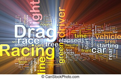 Drag racing concept diagram glowing - Concept diagram...