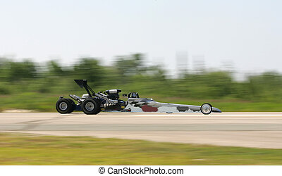 drag racing panning image - taken at elliot lake drag races
