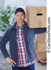 dragende doos, verwijderingsmens