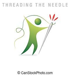 dragning, nål