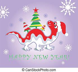 drago, anno, nuovo, 2012