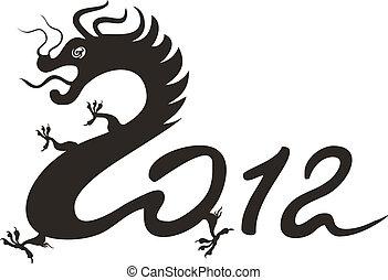 drago, zodiaco, 2012., cinese, anno