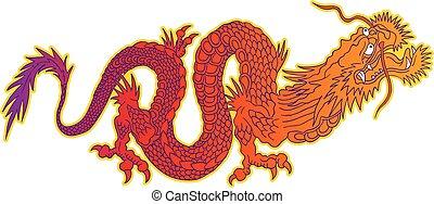 dragon., カラフルである, 中国語