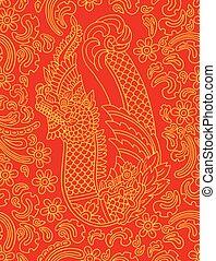 dragon., ベクトル, 装飾, アジア人