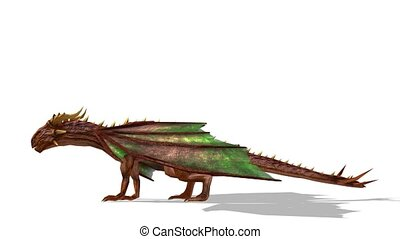 Dragon - 3D CG rendering of a dragon.
