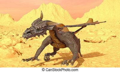 Dragon - 3D CG rendering of a dragon