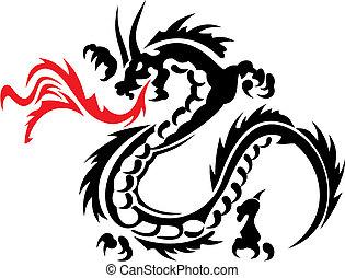 Dragon - Abstract vector illustration of chinese dragon