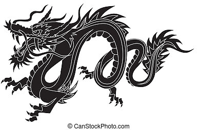 Dragon - Abstract vector illustration of chinese dragon