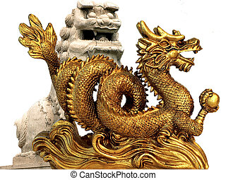 dragon and feng feng shui lion