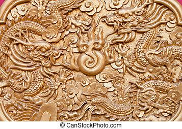 Dragon art wall