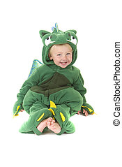 Dragon Baby - Toddler in Dragon costume. Dress up or...